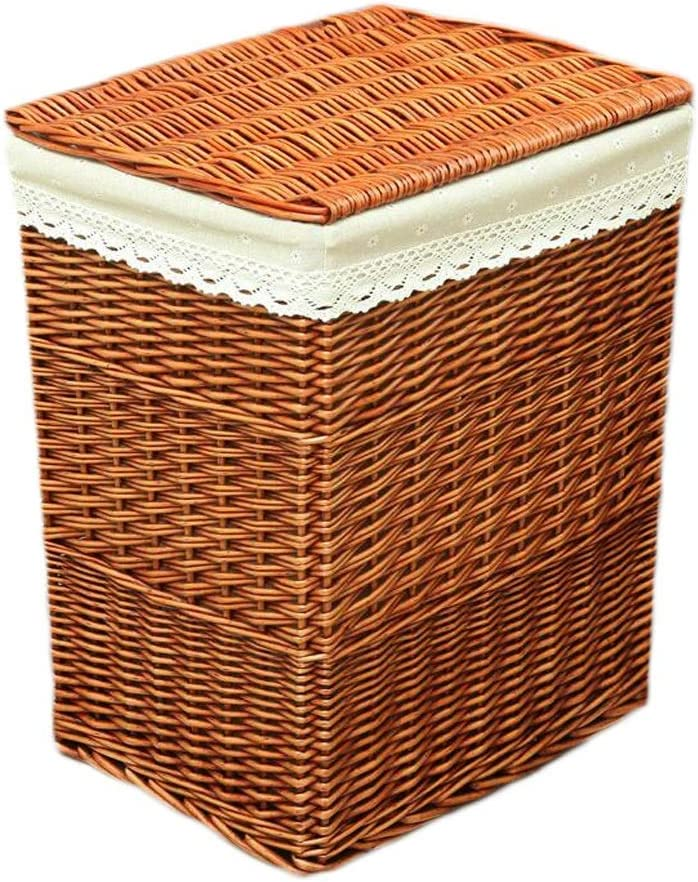 XYSQWZ Rattan Laundry Basket Cotton Max 41% OFF Max 88% OFF Burlap Dirty Lining Lid with