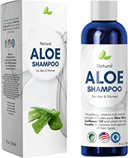 Aloe Vera Shampoo with Sunflower & Keratin - Natural Hydrating Shampoo for Soft & Shiny Hair - Sulfate Free for Color Trea...