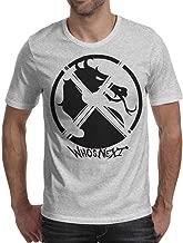 Slimerland Short-Sleeve Cotton 3D-Mortal-Kombat-Logo- Tshirt for Men