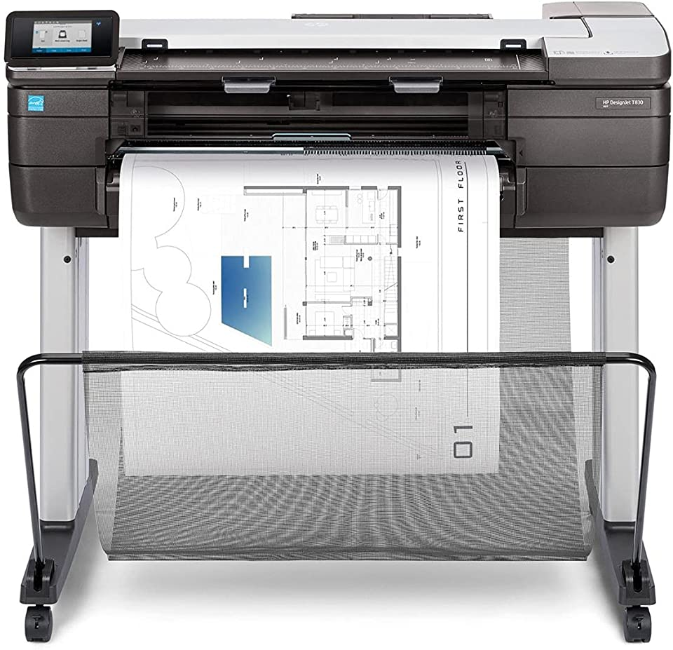 HP DesignJet T830 Large Format Printer, 24 Color Inkjet Plotter, Wireless, Multifunction