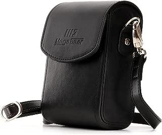 MegaGear Protective Black Leather Camera Case, Bag for for DSC-RX100 V, Panasonic Lumix DMC-ZS45, DMC-ZS50, Nikon Coolpix P340 Fix Lens, Canon PowerShot S120, Nikon Coolpix L28, DMC-TZ57, DMC-TZ70