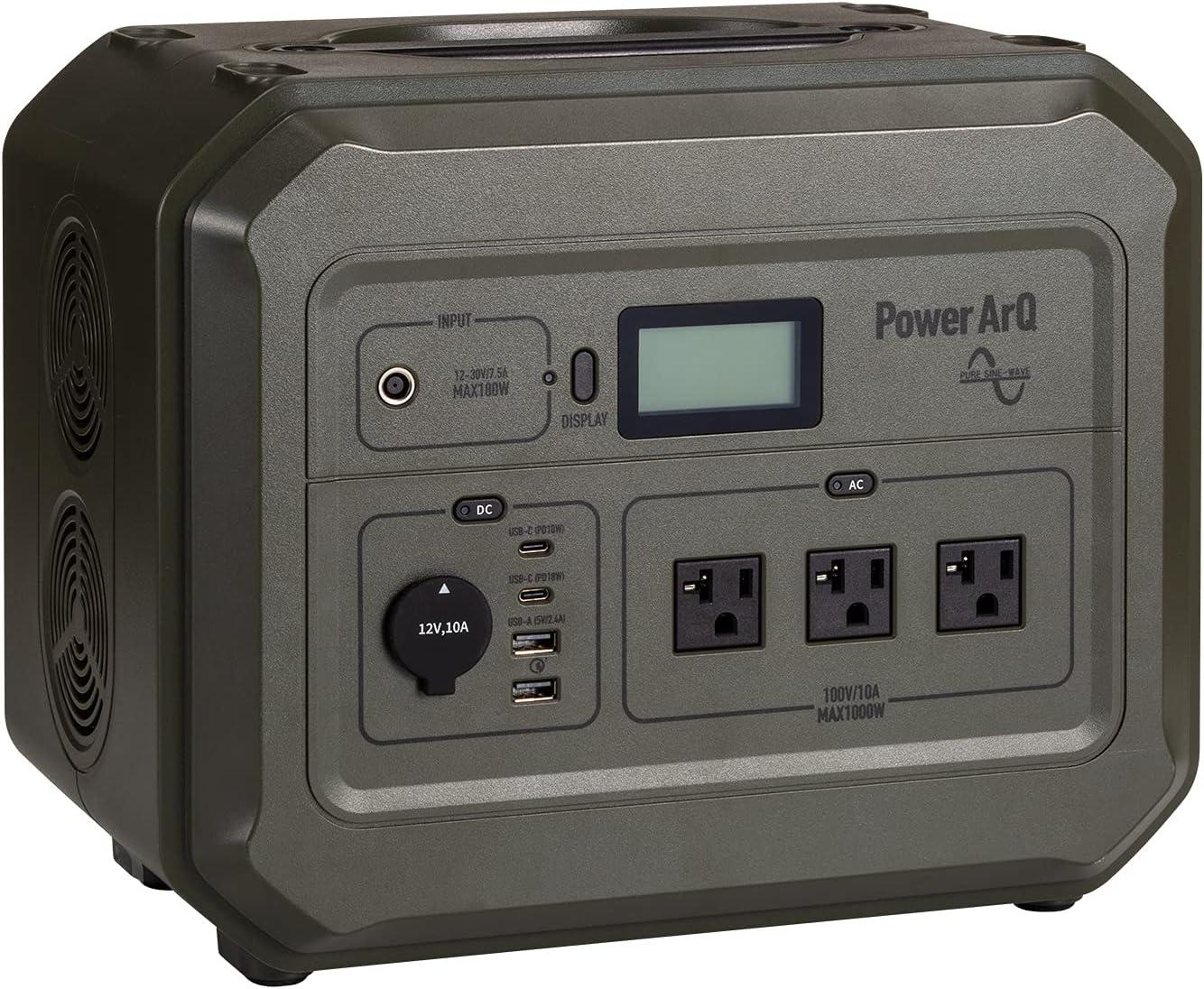PowerArQ Pro ポータブル電源 大容量 1000Wh 蓄電池 Smart Tap/スマートタップ(Smart Tap)