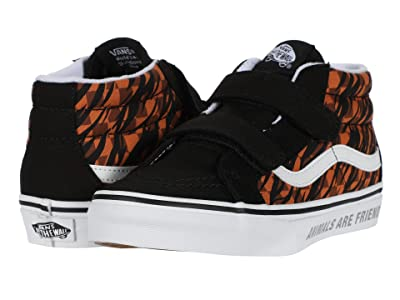 Vans Kids SK8-Mid Reissue V (Big Kid) ((Animal Checkerboard) Tiger/Black) Girls Shoes