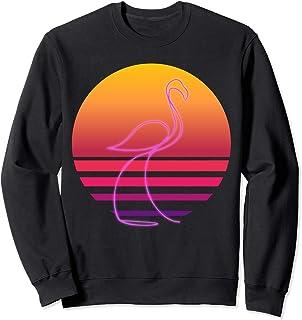 25ec7176dcf6 80's Retro Pink Neon Flamingo Bird Shirt | Bird Lover Gift