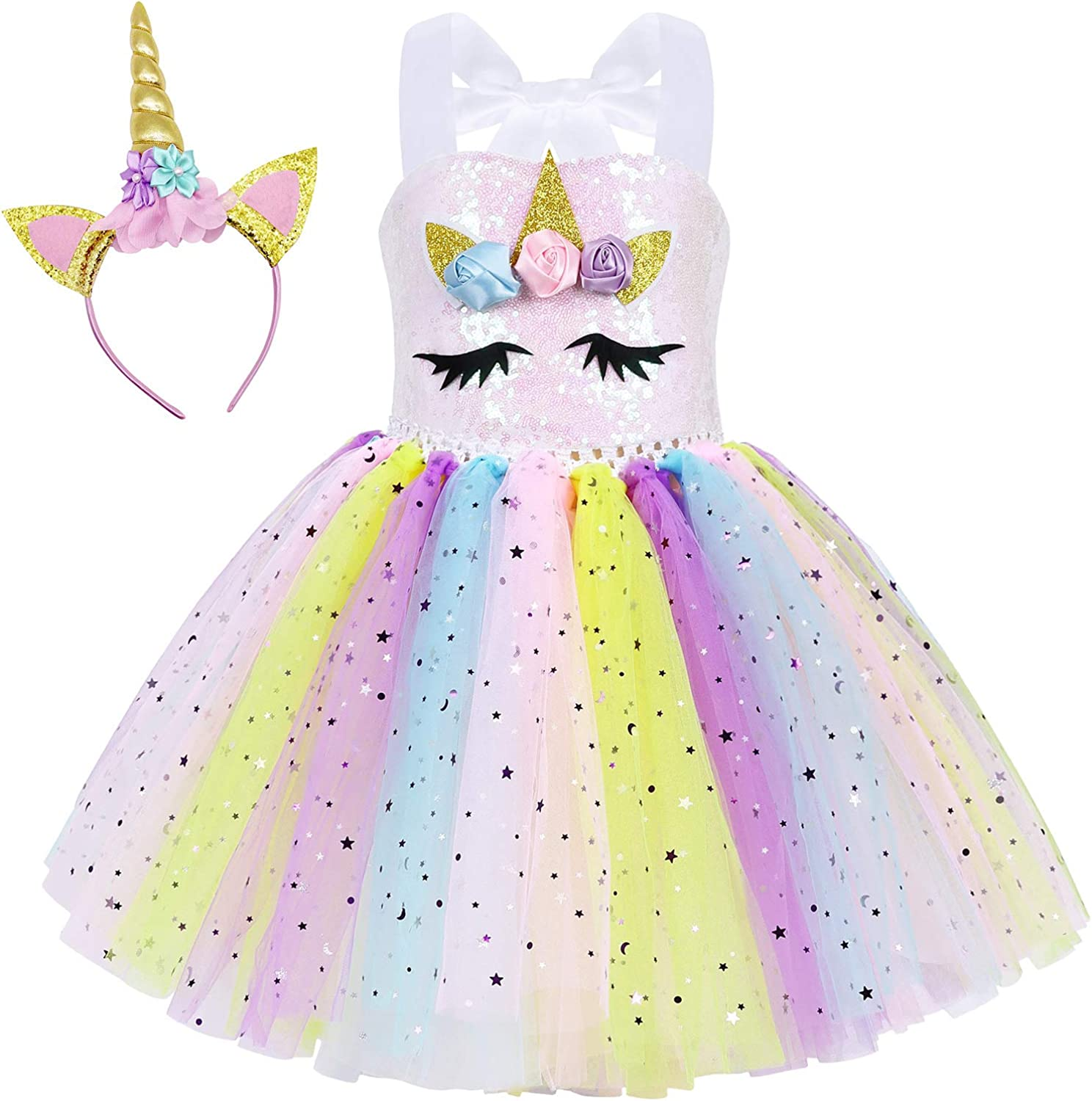 Time sale MetCuento Unicorn Dress for Girls Up Birthday Pa Max 42% OFF Halloween