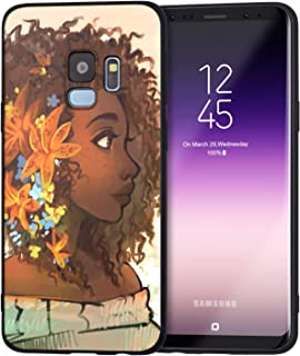 Samsung Galaxy S9 Case African American Afro Girls Women Slim Fit Shockproof Bumper Cell Phone Accessories Thin Soft Black TPU Protective Samsung Galaxy S9 Cases (07)