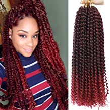 6 packs Crochet Passion Braiding Twist Hair 18inch Long Bohemian Curly Water Wave Braids(T1B-BUG)