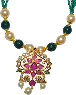 HTSF Green Crystal Chain for Women/Girls. Latest Chain for Women