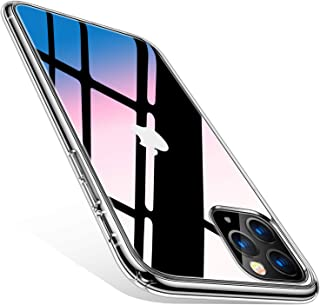 TORRAS HD Clear iPhone 11 Pro Case Cover, [Anti-Yellowing] [Shock Absorption] Thin Slim Shockproof Hard PC Back & Soft TPU Bumper Hybrid Cover Case for iPhone 11 Pro, Crystal Clear