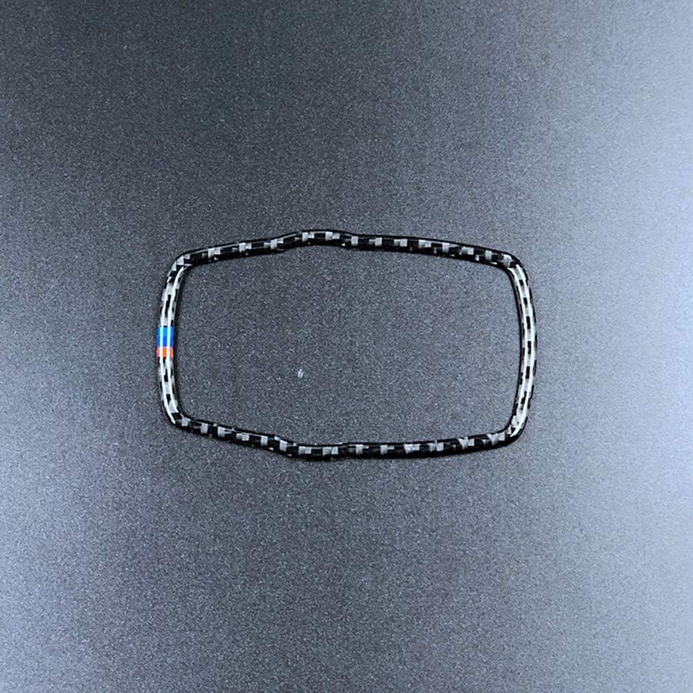 Carbon fiber Car Multi-media Sticker Knob Frame Decoration Cover Trim for BMW F07 F10 F20 F25 F30 X1 X3 X5 X6 1 2 3 5 series 2012-2017 A