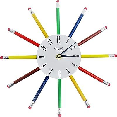 "Comfort Home Multi Color Pencil 10"" Wall Clock"