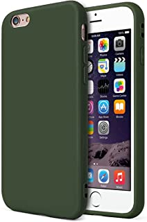 MUNDULEA Compatible iPhone 6 /iPhone 6s Case,Slim Thin Soft TPU Shockproof Bumper Matte Cover Compatible iPhone 6/6s (Deep Green)