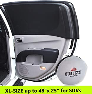 XL/Car Window Sun Shades for SUVs Windows up to 48 x 25 in. Mesh Shade Socks for Baby. Covers Fully. 2-Pack