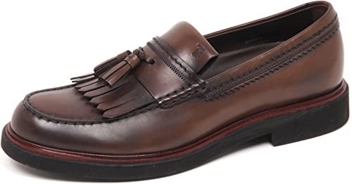 Tod's E7554 Mocassino hommes marron chaussures Vintage Effect Loafer Loafer chaussures Man  service honnête