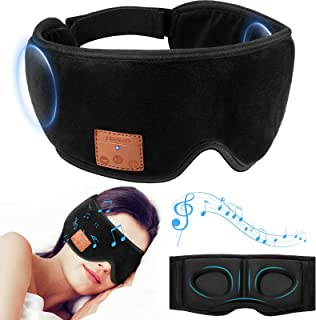 Sleep Headphones 3D Eye Mask, Bluetooth 5.0 Wireless Music Mask, Eye Shade Cover with Ultra-Thin HD Speakers Adjustable, B...