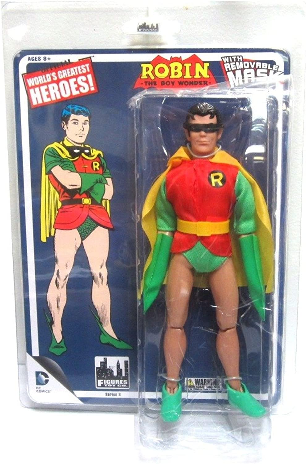 Robin with Removable Mask Retro MEGO Replica DC Comics Series 3 Action Figure