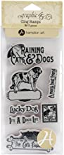 Graphic 45 Raining Cats and Dogs Cling Stamps, No.1