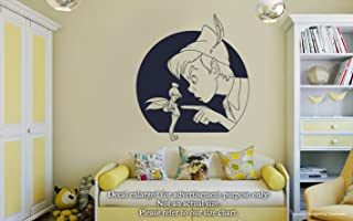 Peter Pan And Tinker Bell Wall Decals Disney Peter Pan Fairytales Stickers Decorative Design Ideas For Your Home or Office Walls Removable Vinyl Murals EC-0589