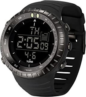 YUINK Men's Classic Digital Sport Watch Waterproof Fashion Wrist Watch with LED Screen Watch for Men
