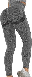 SLIMBELLE Leggings Sportivi Fitness Donna Capri Leggins Push Up Booty Pantaloni Yoga Vita Alta Sexy Bottino Pantalocini Al...