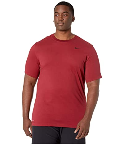 Nike Big Tall Dry Tee Dri-Fit Cotton Crew Solid (Team Red/Black) Men