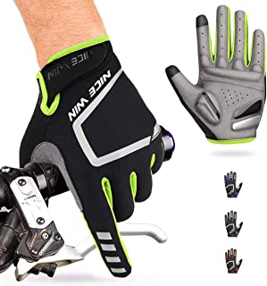 Cycling Gloves - Motorcycle/Mountain Bike - Full-Finger Workout Gloves Road Bicycle Glove for Men or Women