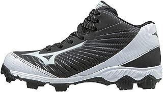 (MIZD9 Kids' 9-Spike Advanced Franchise 9 Molded Youth Baseball Cleat-Mid Shoe