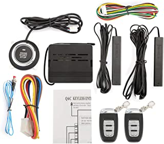 Partol Car Alarm System Smart Key PKE Car Security Alarm Passive Keyless Entry Push Start System Engine Start Stop Push Bu...