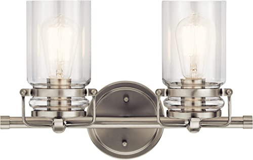 Kichler Lighting 45688NI Two Light Bath from The Brinley Collection, 2, Brushed Nickel