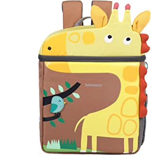 Toddler Backpack with Leash and Chest Strap for Boys Girls, Cute 3D Kindergarten School Backpack for Kid