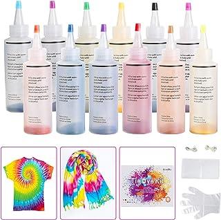 comprar comparacion Ucradle 12 colores Tie Dye Kit, Neón Pinturas Textiles de Tela Permanentes Conjunto de Tinte Tie Tie de un Solo Paso Camis...