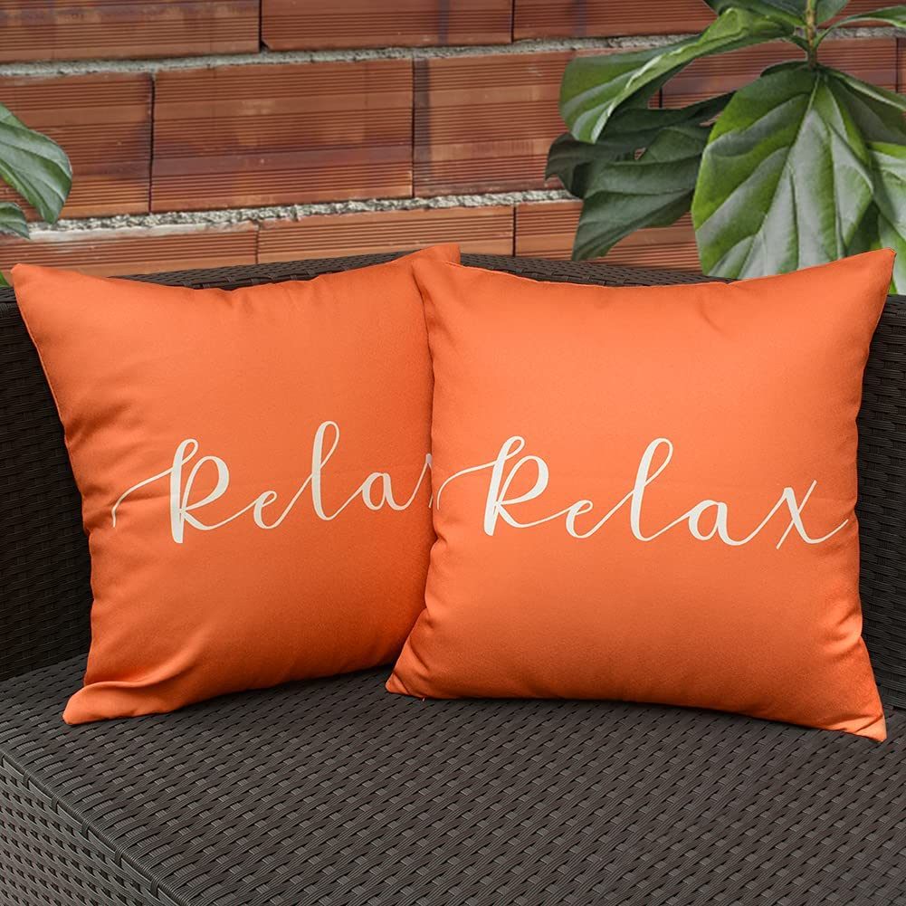 KRINGSIA Pack of Popular brand in the world 2 Relax Throw Waterproof Pillow Cover Max 64% OFF Outdooor
