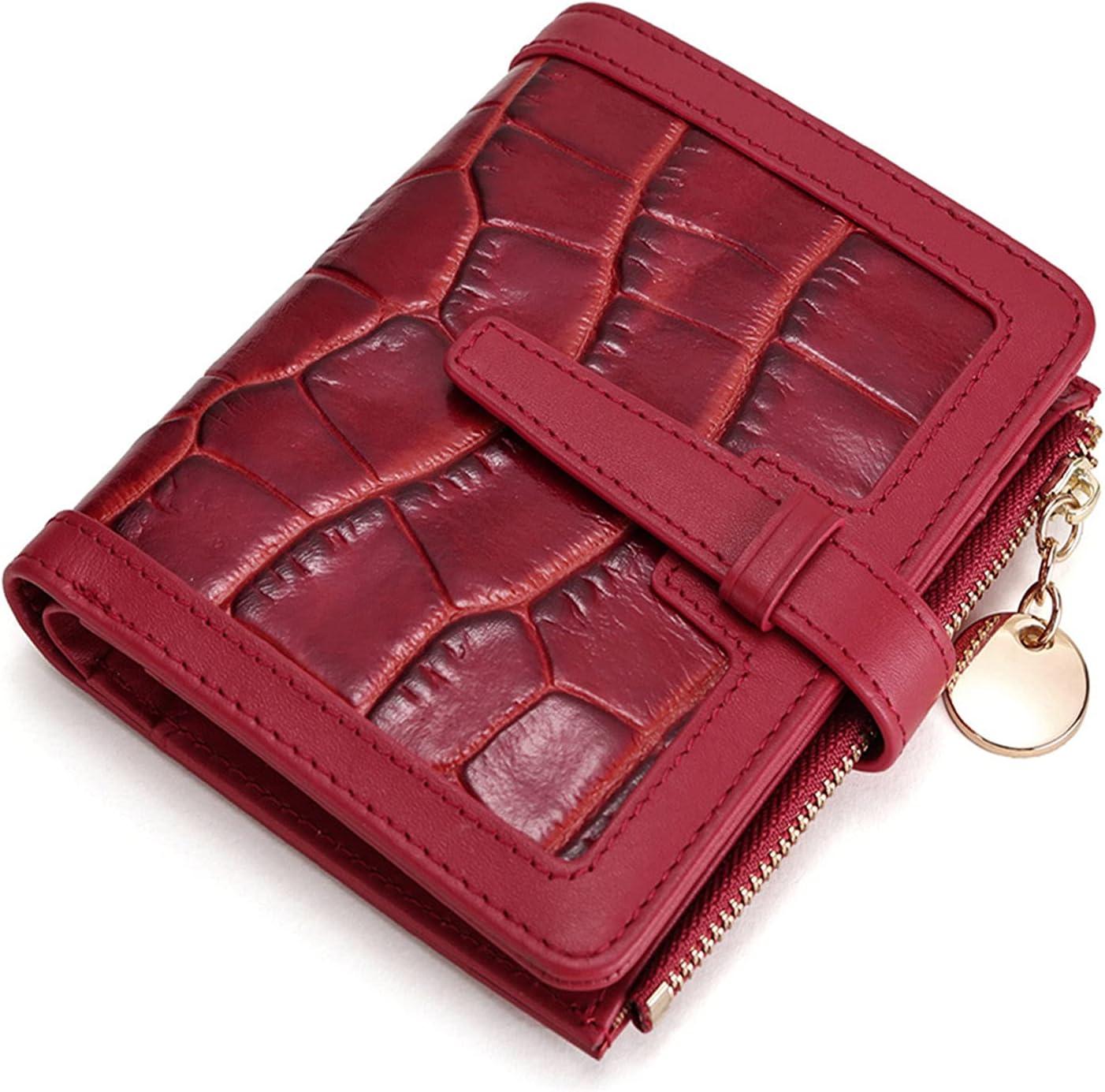 Women's Leather Wallet Boston Mall RFID Mini Blocking with Bombing new work ID