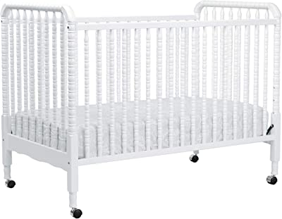 DaVinci Jenny Lind 3-in-1 Convertible Crib in White - 4 Adjustable Mattress Positions, Greenguard Gold