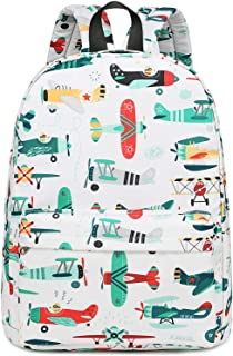 CAMTOP Preschool Backpack for Kids Boys Kindergarten Backpack Toddler School Bookbags (Plane-White)