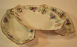 Nippon Trinket/Candy Bowls, Hand-Painted Flowers/Gold Accents, Set of 3, Porcelain, Vintage, 3 3/4 Inches