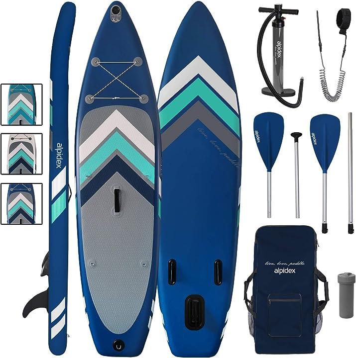 Tavola sup alpidex stand up paddle gonfiabile 305 x 76 x 15 cm isup portata massima 110 kg B088BW39QT