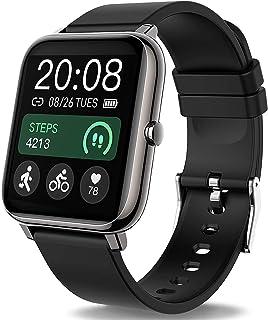 Popglory Smartwatch, fitnesstracker met bloeddrukmeting, fitnesshorloge met hartslagmeter, slaapmonitor, IP67 waterdicht, ...