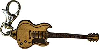 Gibson SG Deluxe incisa in Vera Pelle - Portachiavi Chitarra - Etabeta Artigiano Toscano - Made in Italy
