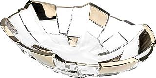 Casa Vivante Decorative Bowl Silva Round Glass Transparent 8 x 28 cm Diameter Black