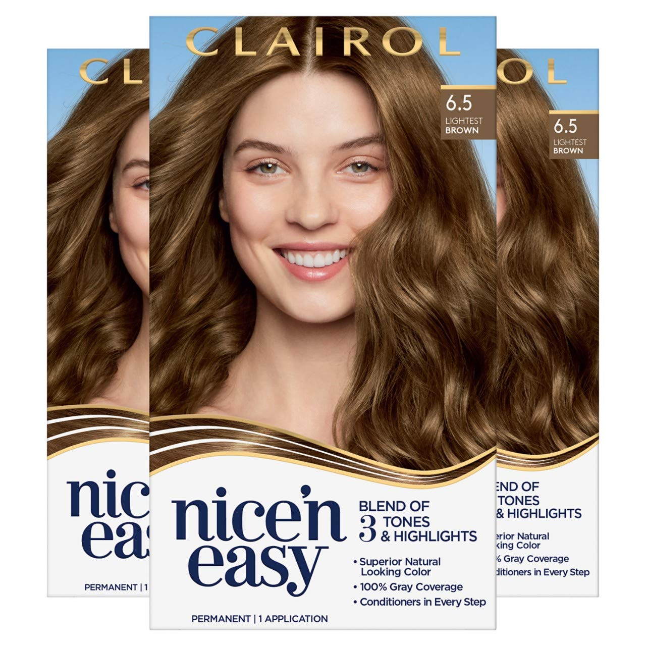 Max 65% OFF Clairol Nice'n Easy Permanent Hair 6.5 Lightest At the price of surprise Dye Brown