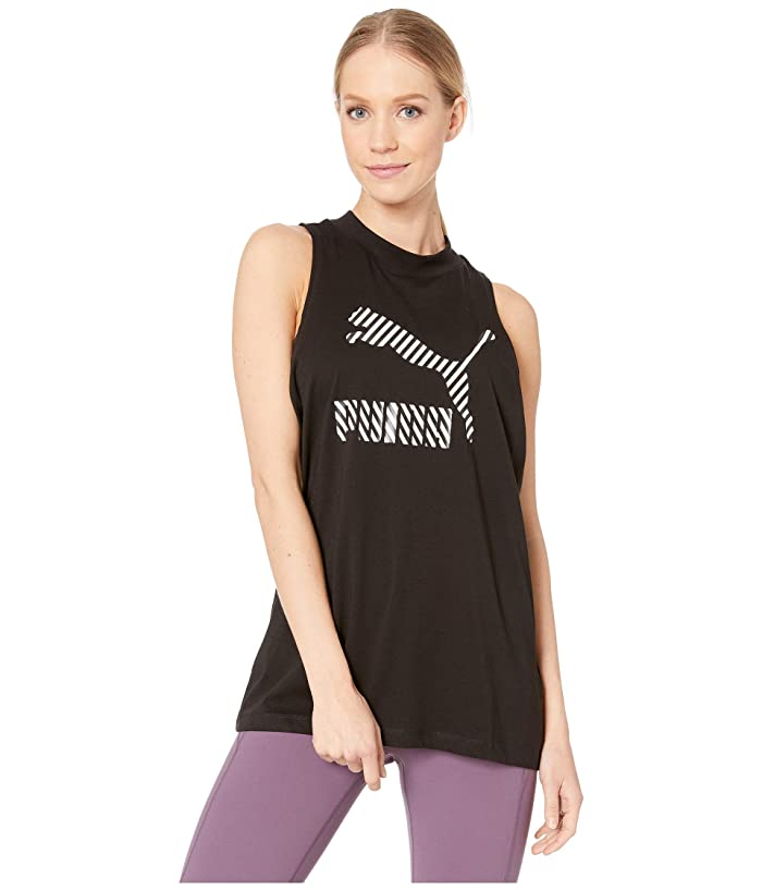 PUMA Clash AOP Tank (Cotton Black) Women