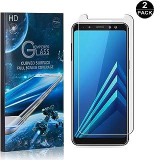 Galaxy A8 Plus 2018 Screen Protector Tempered Glass, Bear Village® Perfect Fit & Anti Fingerprint HD Screen Protector Film for Samsung Galaxy A8 Plus 2018-2 Pack