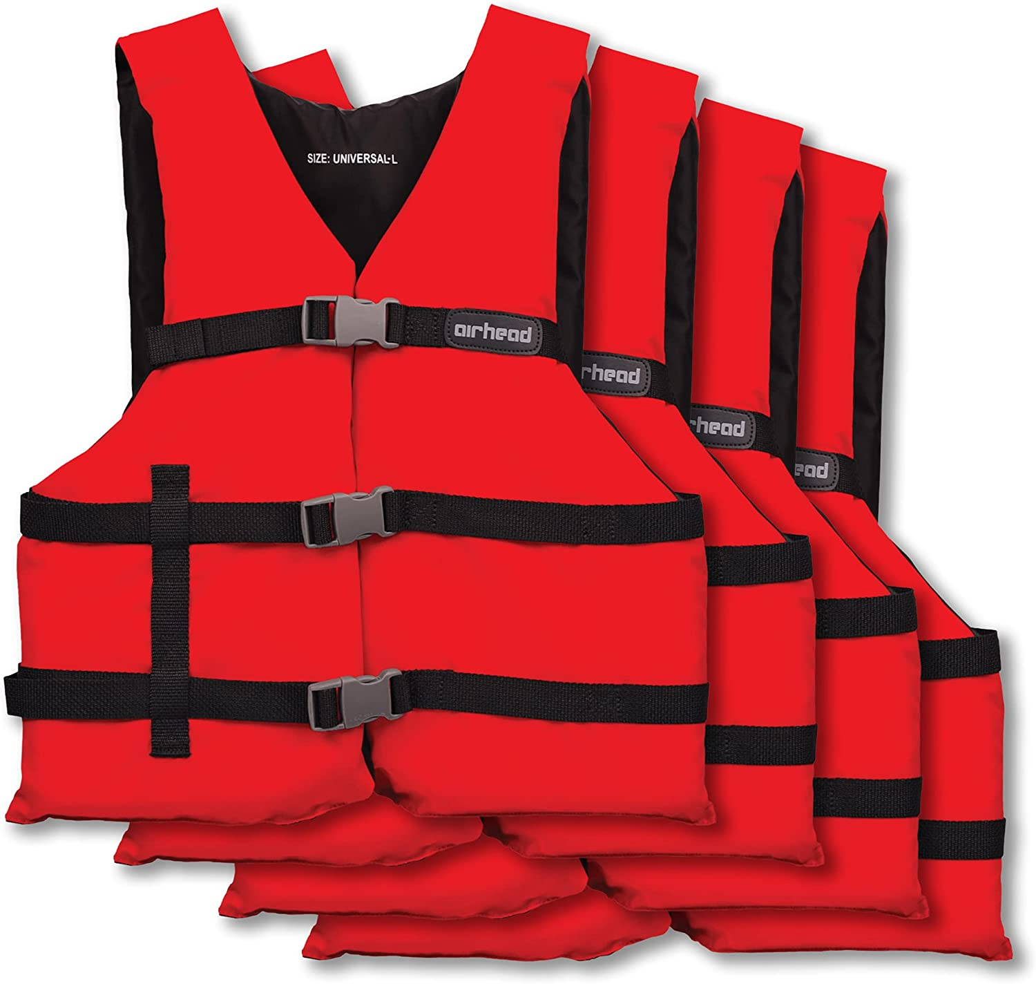 Airhead Adult General Purpose Free shipping anywhere in the nation Vest 4-Pack New products, world's highest quality popular! Life