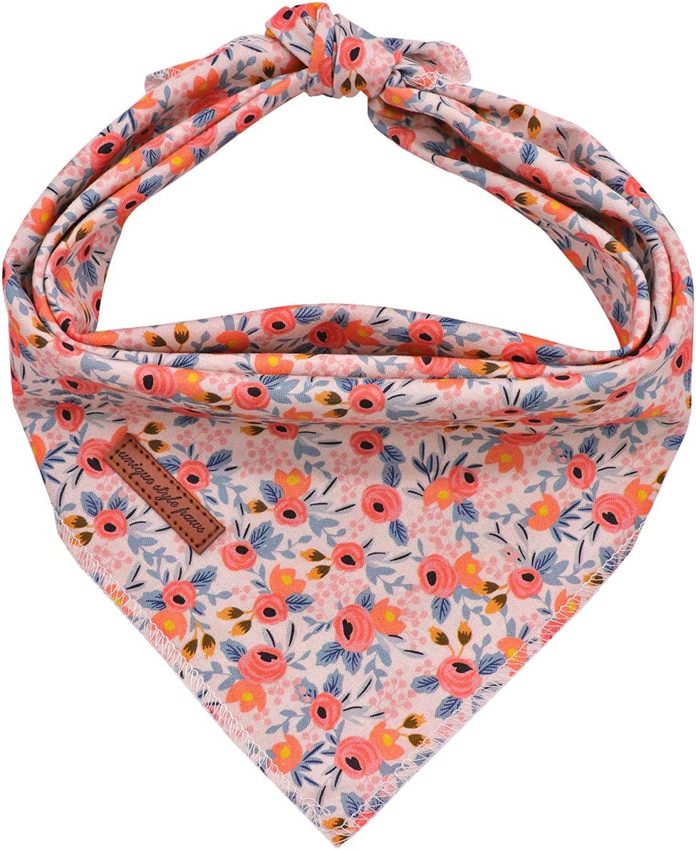 Unique Style Paws Dog Bandanas 1PC Washable Cotton Triangle Dog Scarfs for Small Medium Large Dogs and Cats : Kitchen & Dining