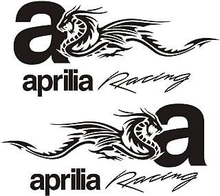 myrockshirt 2X Aprilia Schriftzug Helmaufkleber Helm Motorrad Aufkleber Sticker Decal Profi-Qualit/ät ohne Hintergrund Bike Tuning