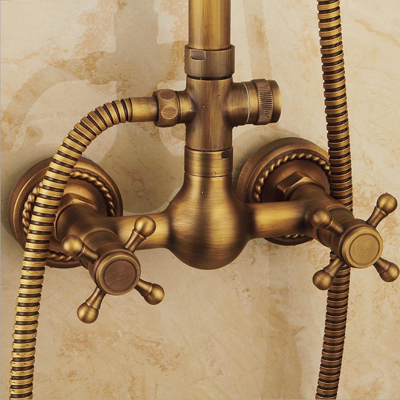 Yn Dusche-Set europischen Stil Dusche Antike Duschkopf kubische Multifunktions-Duschkopf Badezimmer Duschkopf