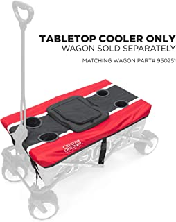 Creative Outdoor Table Top Cooler Accessory for Sport Series Wagons | Red