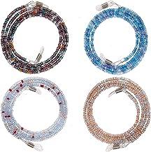 Eyeglass Chain for Women | Beaded Eyeglass Strap | Glasses Holder Around Neck - 4 Pack