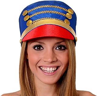 Mujer batonista Sombreros EL CASCANUECES Accesorio de Disfraz Navidad Juguete Soldado Sombrero Disponible en múltiplos de x 1 - X 3 - X 6 - X12-x24 - Azul, PACK OF 1